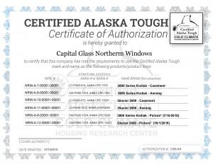 Certificate, Certified Alaska Tough_allwindows3